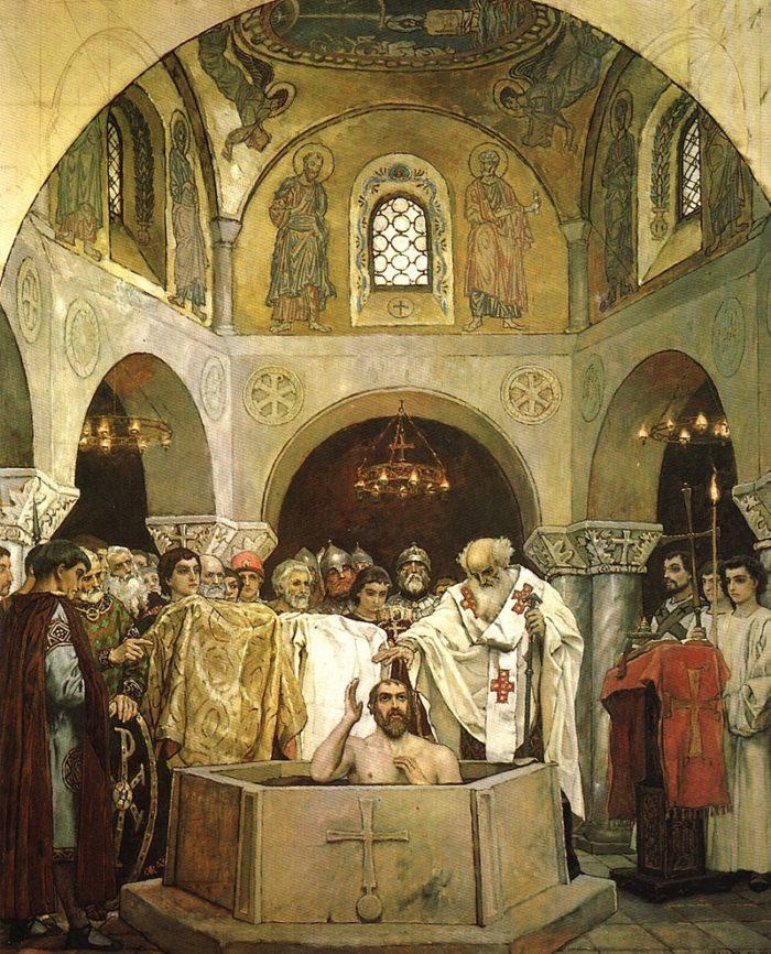 Рис. 3. Крещение святого князя Владимира. Эскиз