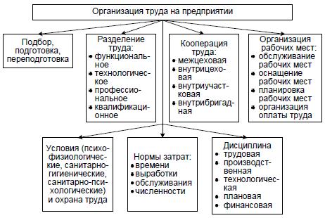 Рис. 3. Организация труда на предприятии