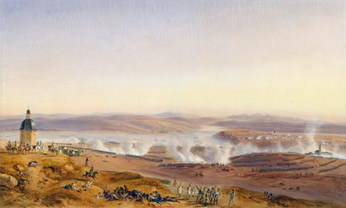 Рис. 3. Панорамный вид на Аустерлицкое сражение 2 декабря 1805 года. Жан-Антуан-Симеон Форт