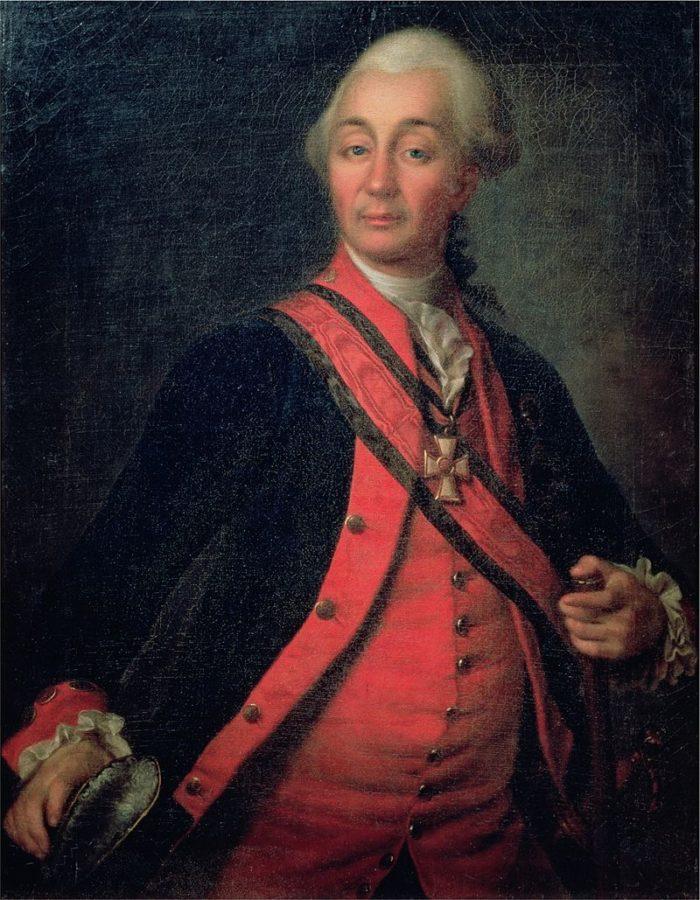 Рис. 3. Портрет А. В. Суворова. Художник Д. Г. Левицкий. Около 1786 года