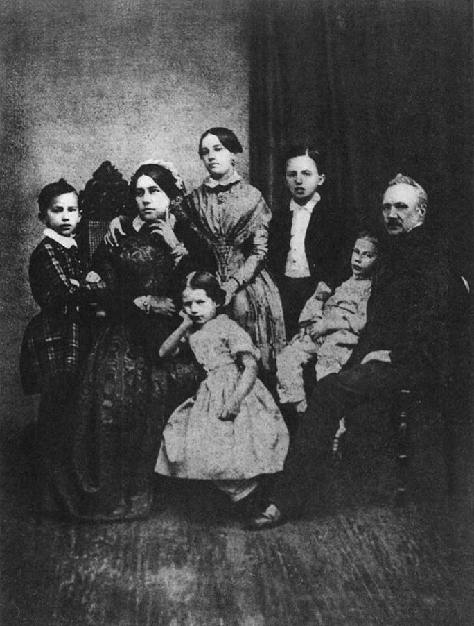 Рис. 3. Семья Чайковских в 1848 году. (крайний слева — Петр Ильич)