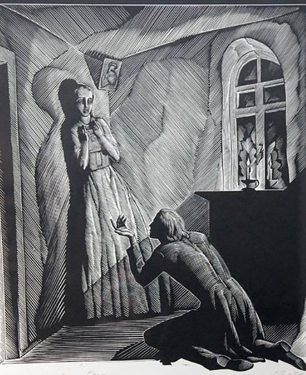 Рис. 3. Соня Мармеладова и Родион Раскольников