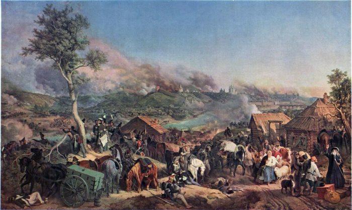 Рис. 3. Сражение при Смоленске. Автор Петер фон Гесс. 1846 год