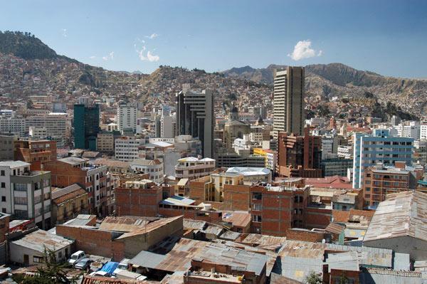Рис. 3. Центр города Ла-Пас, административного центра Боливии