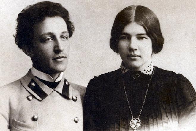 Рис. 4. Александр Блок с женой Людмилой Менделеевой