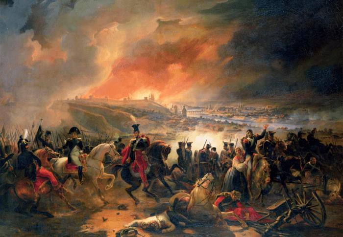 Рис. 4. Битва при Смоленске. Автор Жан Шарль Ланглуа. 1839 год