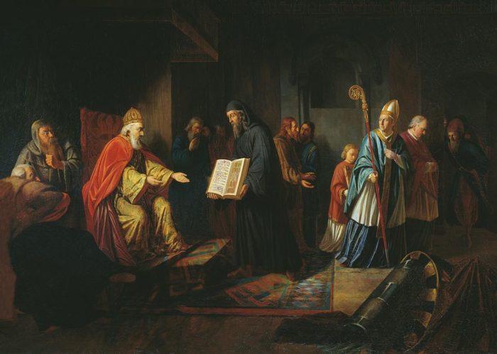 Рис. 4. Великий князь Владимир выбирает веру. Автор Иван Эггинк. 1822 год
