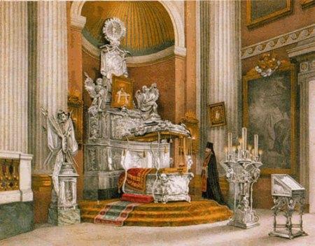 Рис. 4. Вид раки с мощами Св. Александра Невского. О. А. Кочетова. 1890 год