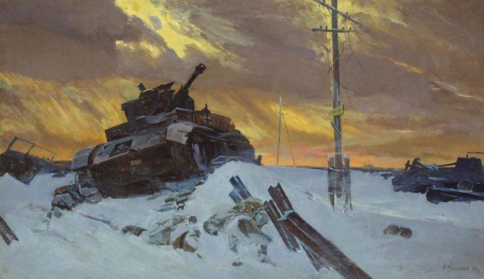"""Рис. 3. """"Враг остановлен"""". Автор Ф. П. Усыпенко"""