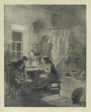 Рис. 4. В девичьей. Иллюстрации К. А. Клементьевой