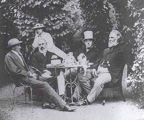 Рис. 4. И. С. Тургенев на даче братьев Милютиных в Баден-Бадене. 1867 год