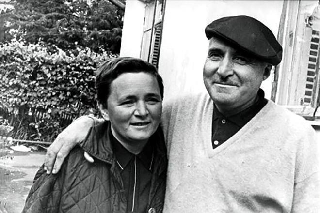 Рис. 4. Константин Симонов и жена Лариса Жадова