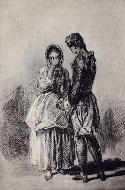 Рис. 4. Маша и Гринев. Рисунок П. П. Соколова