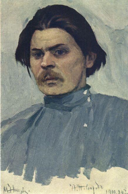 Рис. 4. Портрет А. М. Горького. Автор М. Нестеров. 1901 год