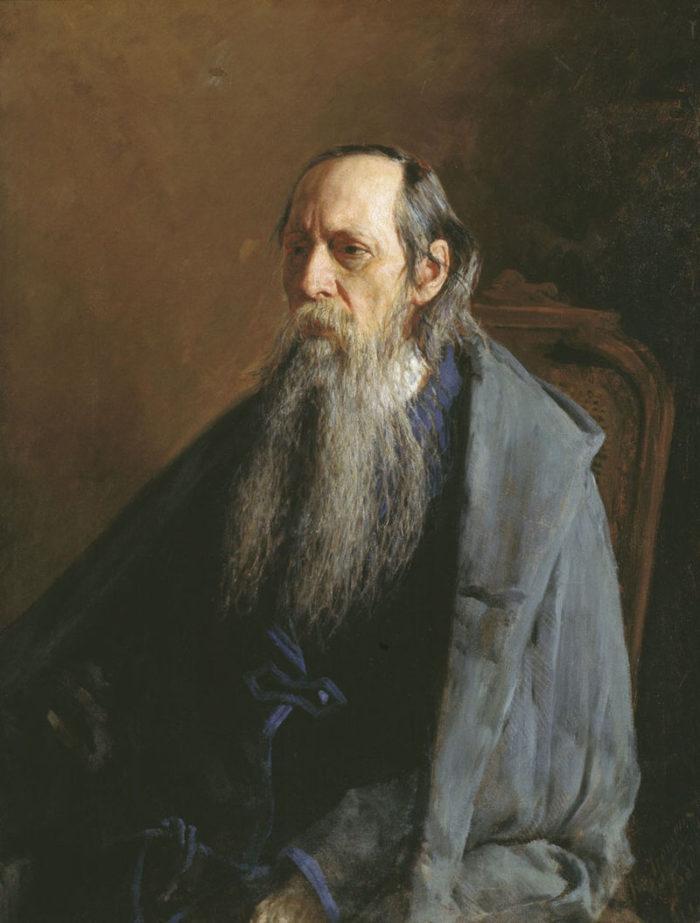 Рис. 7. Портрет Михаила Салтыкова кисти Н. А. Ярошенко. 1886 год