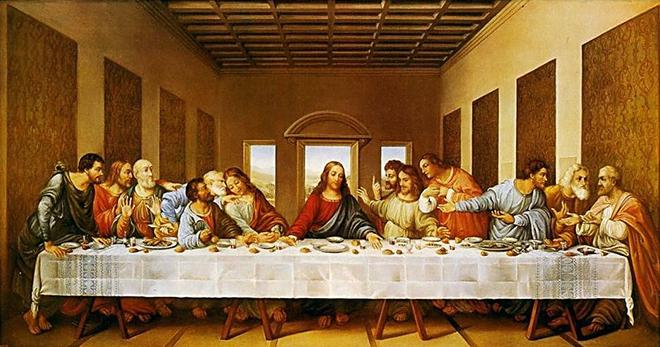 Рис. 4. Тайная вечеря. Леонардо да Винчи. Около 1495 - 1498 гг.