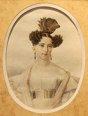 Рис. 4. Юлия Даль, жена В. И. Даля. Автор И. Е. Вивьен де Шатобрен
