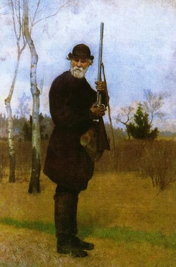 Рис. 5. «И. С. Тургенев на охоте». Н. Д. Дмитриев-Оренбургский. 1879 год