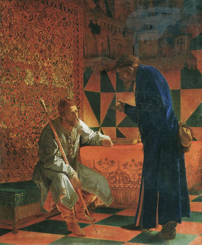 Рис. 5. Иван Грозный и Малюта Скуратов. Г. С. Седов. 1871 год
