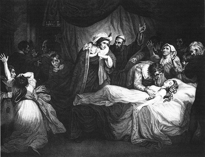 Рис. 5. Мнимая смерть Джульетты. Автор John Opie