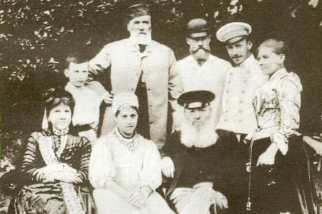 Рис. 5. Семья Якова Полонского в гостях у семьи Афанасия Фета