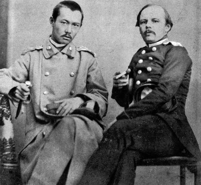 Рис. 5. Ф. Достоевский и Ч. Валиханов. Фотография снята в Семипалатинске в 1858 г.