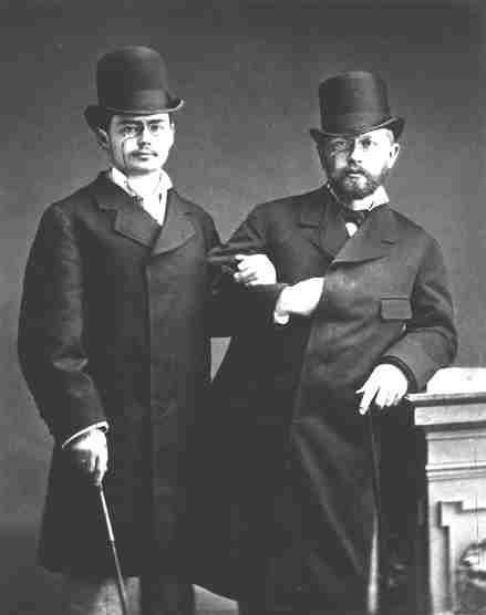 Рис. 5. Петр Чайковский с Иосифом Котеком. 1877 год