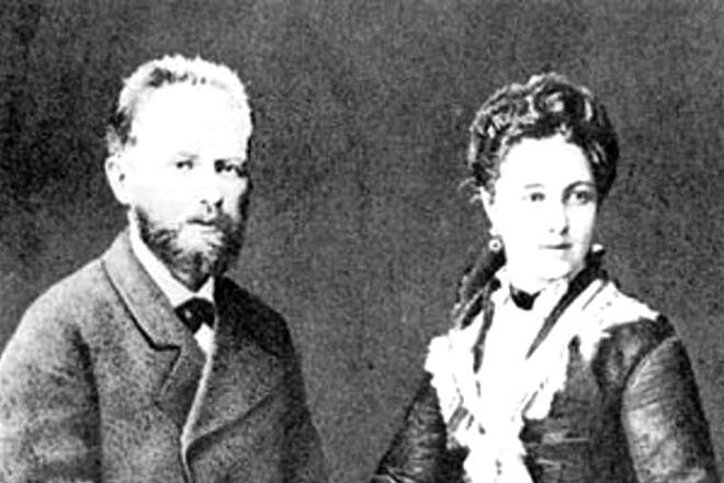 Рис. 7. Петр Чайковский с женой Антониной Милюковой