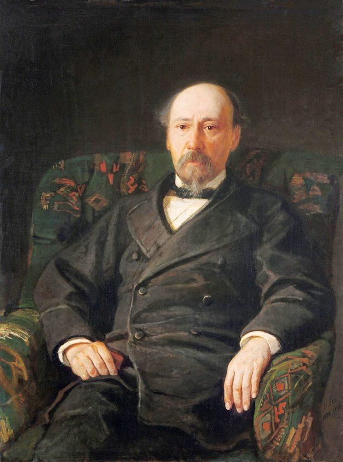 Рис. 6. Портрет Н. А. Некрасова. Автор Н. Н. Ге. 1872 год