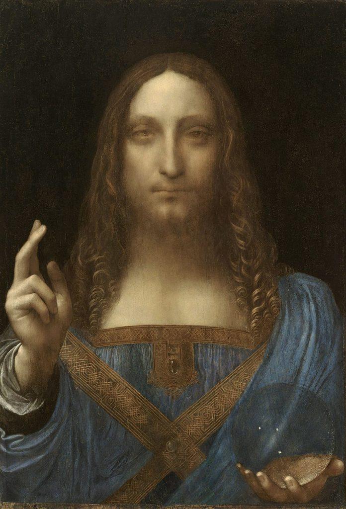 Рис. 6. Спаситель мира. Леонардо да Винчи. 1499 год