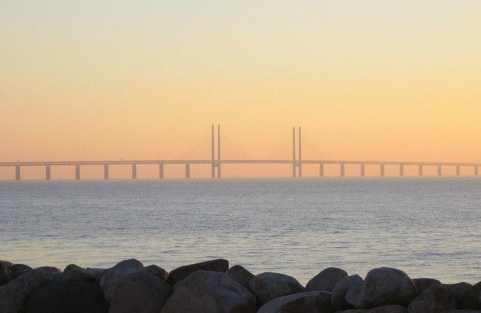 Рис. 6. Эресуннский мост между Данией и Швецией является частью проекта трансъевропейских транспортных сетей