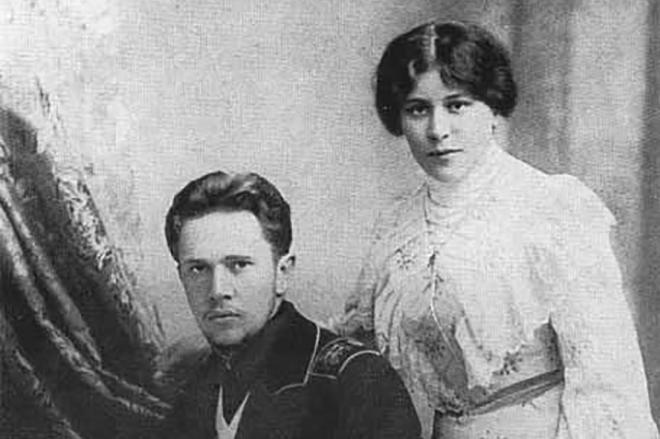 Рис. 6. Алексей Толстой с женой Юлией Рожанской