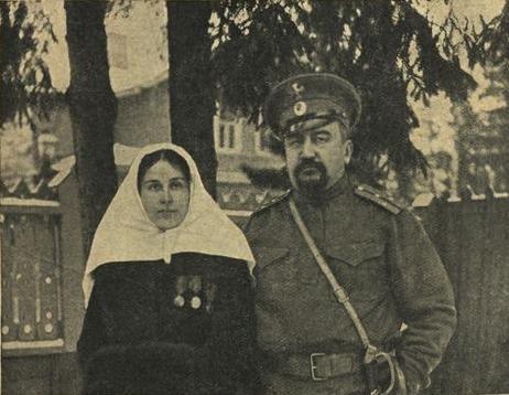 Рис. 7. Куприн, призванный в чине поручика на Первую мировую войну с Елизаветой Морицевной Куприной