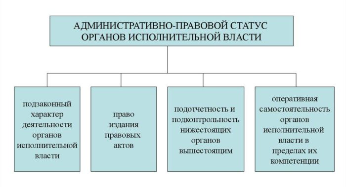 Рис. 4. Административно-правовой статус органов исполнительной власти