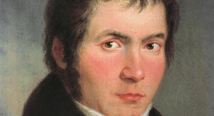 Рис. 2. Бетховен в возрасте 34 лет. Портрет Йозефа Мелера