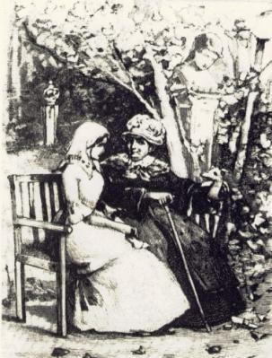 Рис. 3. Маша Миронова и Екатерина II. Гравюра А. Янова