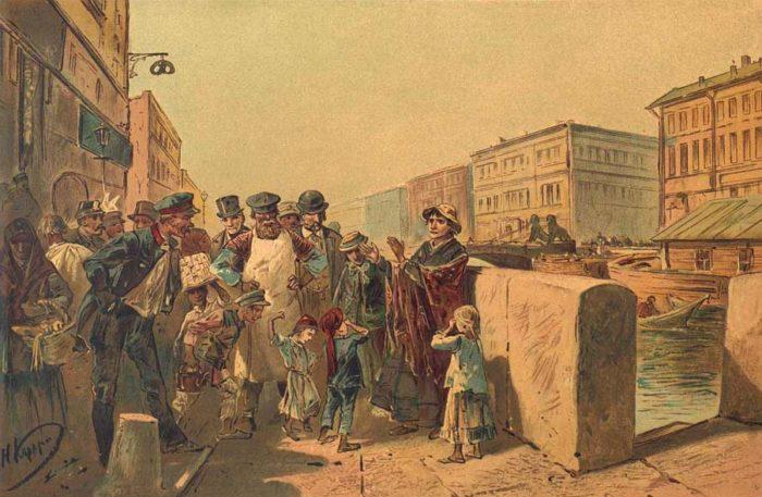 Рис. 1. Иллюстрация к роману Преступление и наказание. Николай Каразин. 1893 год