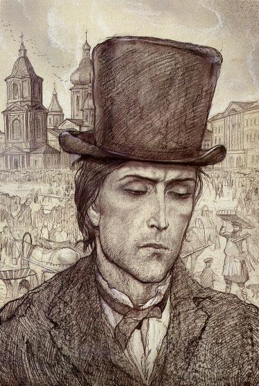 Рис. 1. Родион Раскольников. Иллюстрации И.С.Глазунова