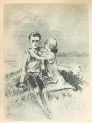 Рис. 2. Слепой музыкант. Иллюстрация В. Бехтеева