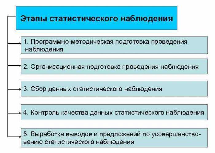 Рис. 1. Этапы статистического наблюдения