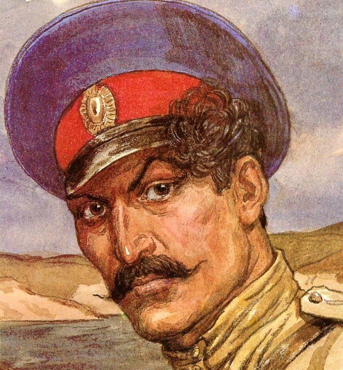 Рис. 2. Григорий Мелехов. Художник И. Пчелко