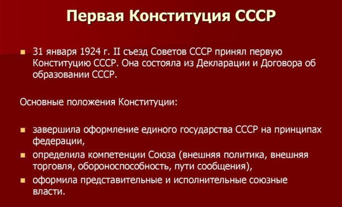 Рис. 2. Первая Конституция СССР
