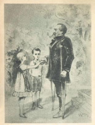 Рис. 4. Слепой музыкант. Иллюстрация В. Бехтеев