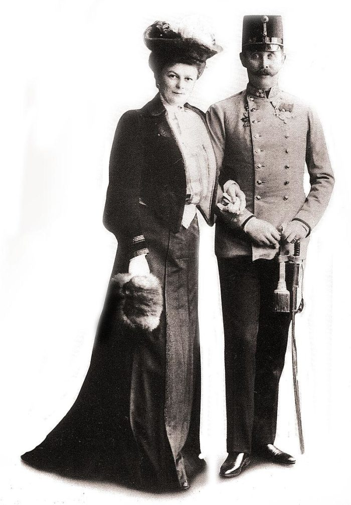 Рис. 2. Франц Фердинанд и его жена София Хотек