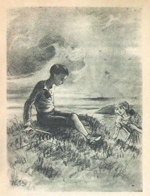 Рис. 3. Слепой музыкант. Иллюстрация В. Бехтеева