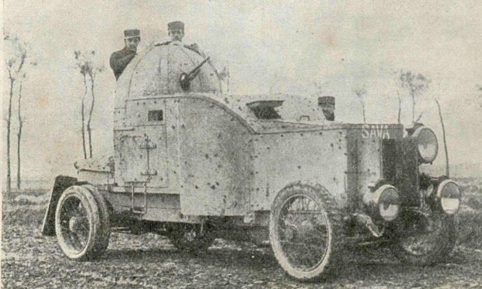 Рис. 4. Бельгийский бронеавтомобиль «Sava». 1914 год