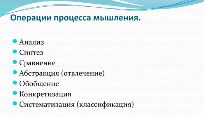 Рис. 5. Операция процесса мышления