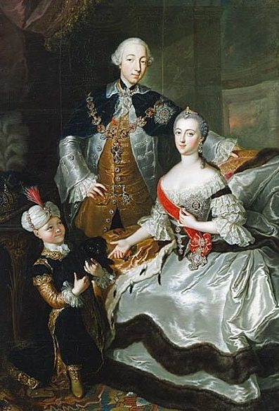 Рис. 4. Петр III с Екатериной II. Автор Анна Розина де Гаск