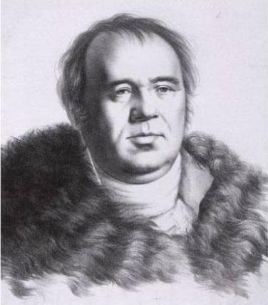 Рис. 5. Иван Крылов. Автор Г. Ф. Гиппиус. 1822 год