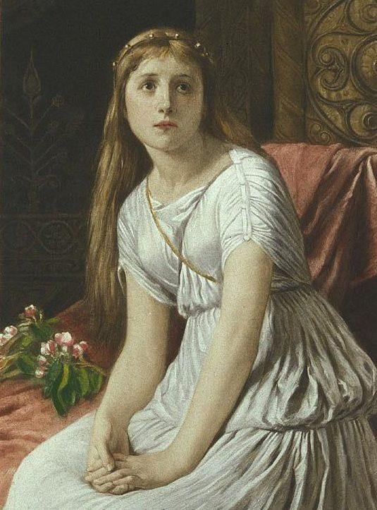 Рис. 6. Корделия. Картина Уильяма Ф. Йимза. 1888 год